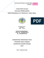 Performent of Product and Skills