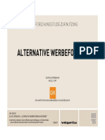 ALTERNATIVE WERBEFORMEN