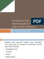 Faktor-faktor Yang Mempengaruhi Transmisi Agen-Agen Infeksius
