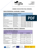 Calendario Exámenes Eval Final 1º 17 18
