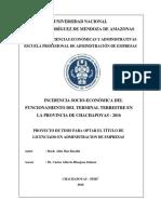 Proyecto Incidencia Socio Económica Aldo 2018