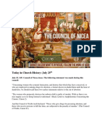 Today in Church History Council of Nicea July 25