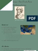 pythagoras  the first pure mathematician