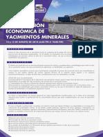 Curso Valorización Económica de Yacimientos Minerales - AGO2018 - IIMP