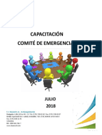 Informe Capacitacion Comite de Emergencias Julio 2018
