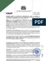 Convenio entre el Gabinete de Coordinación de la Política Social a través de los Centros Tecnológicos Comunitarios y Cisco System.