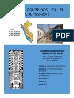 Cronologia Historica de Los Terremoto Más Destructivos en El Peru 1533