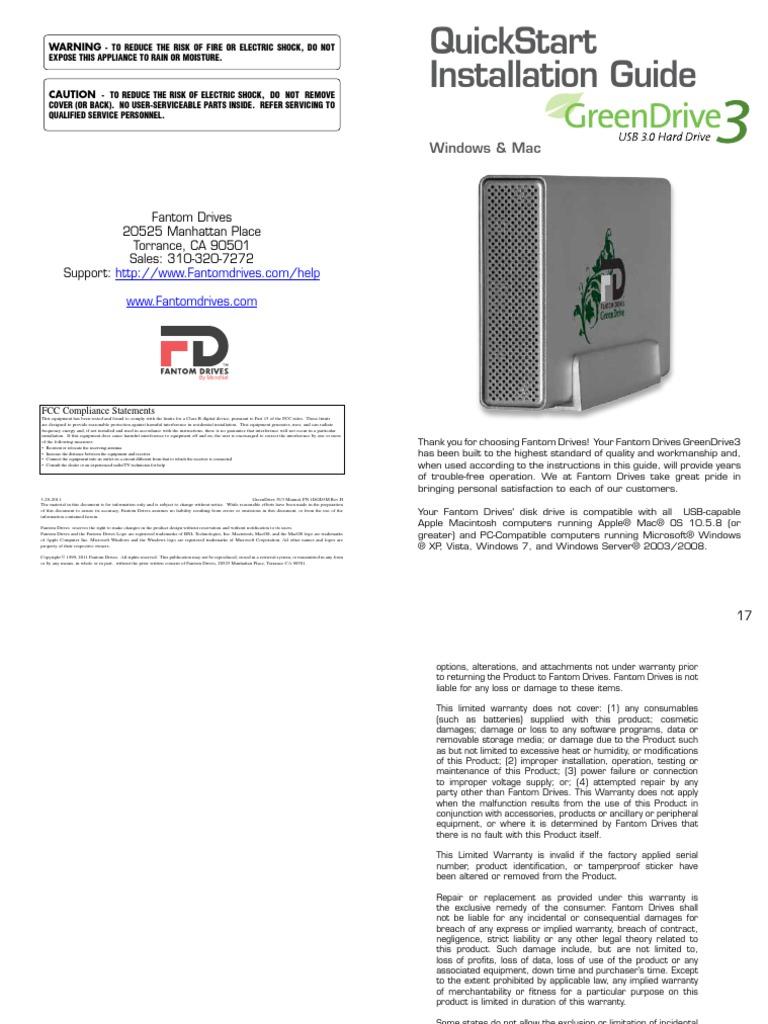 GreenDrive3 USB3 Manual-2014   Usb   File System