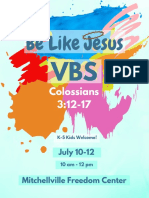 be like jesus flyer