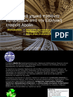 Innovative Construction Chemicals by Abolin Co - Part A