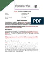 nea academic evaluation template 2017-18