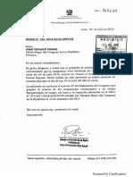 Carta de Fuerza Popular para la reincorporación de Yeni Vilcatoma