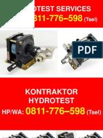 Kontraktor Jasa Hydrostatic Test Tuban