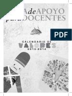 Guía de Valores para Docentes 2013-2014