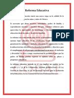 Reforma Educativa Cisneros