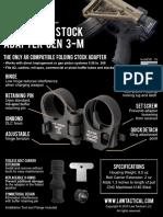 Law Tactical AR-15 Folding Stock Adapter Spec Sheet