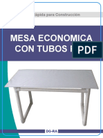 Mesa de Tubos PVC