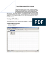 Excel Three Dimensional Worksheets
