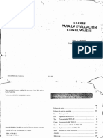 Kaufman Claves Para La Evaluacion El Wais-III
