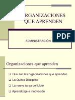 Aprendizaje de Las Organizaciones