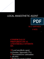 Local Anesthetic Agents