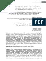 AÇÃO CIVIL PÚBLICA, DEFENSORIA PÚBLICA E DEMOCRATIZAÇÃO DO ACESSO À JUSTIÇA