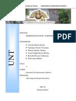 Informe Generadores de Vapor - Evaporadores