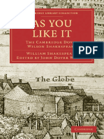 (Cambridge Library Collection - Literary Studies) William Shakespeare, Sir Arthur Quiller-Couch (Editor), John Dover Wilson (Editor)-The Cambridge Dover Wilson Shakespeare, Volume 03_ as You Like It-C