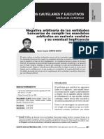 Héctor Campos García - Negativa Arbitraria