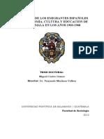 Tesis Doctoral El Aporte de Los Emigrantes Españoles a La Economia