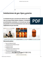 Instalaciones de Gas_ Tipos y Precios