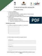 Custionario Fase de Postulación y Asignación. Mcr 22.