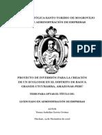 PROYECTO DE INVERSIÓN PARA LA CREACIÓN DE UN ECOLODGE EN EL DISTRITO DE BAGUA GRANDE-UTCUBAMBA, AMAZONAS-PERÚ