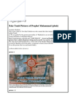Fake Tomb Pictures of Prophet Muhammad