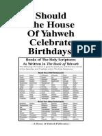 Booklet Birthdays