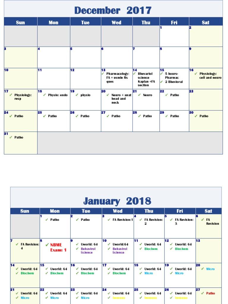 USMLE Step 1 Timetable | United States Medical Licensing