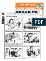 Ficha de Independencia Del Peru Para Segundo de Primaria
