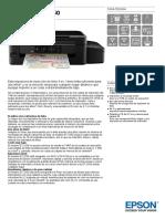 EcoTank ET 2550 Datasheet