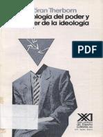 Goran Therborn La Ideologia Del Poder y El Poder de La Ideologia