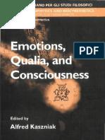 Kaszniak, Alfred - Emotions, Qualia, And Consciousness