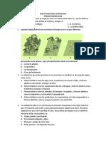 EVALUACION FINAL DE BIOLOGIA 6° SABATINOS