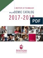 Stevens 2017 2018 Academic Catalog