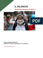 Iniciativa para crear Comisión de la Verdad para los crímenes con Calderón y EPN