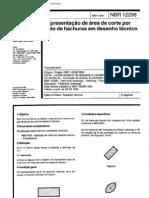 NBR 12298 - 1995 - representação de área de corte por meio de hachuras em desenho técnico