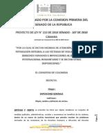 Texto Aprobado PL 213 de 2010 (Victimas)