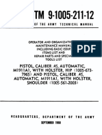 Operator and Organizational Maintenance Manual Pistol, Caliber .45, Automatic, M1911A1
