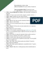 Funciones y Combinaciones de La Tecla Ctrl