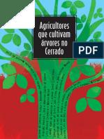 Agricultores que cultivam árvores no cerrado