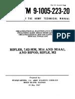 Organizational Maintenance Manual Rifles, 7.62mm, M14 and M14A1, and Bipod, Rifle, M2