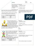 Worksheet Variables Simpsons